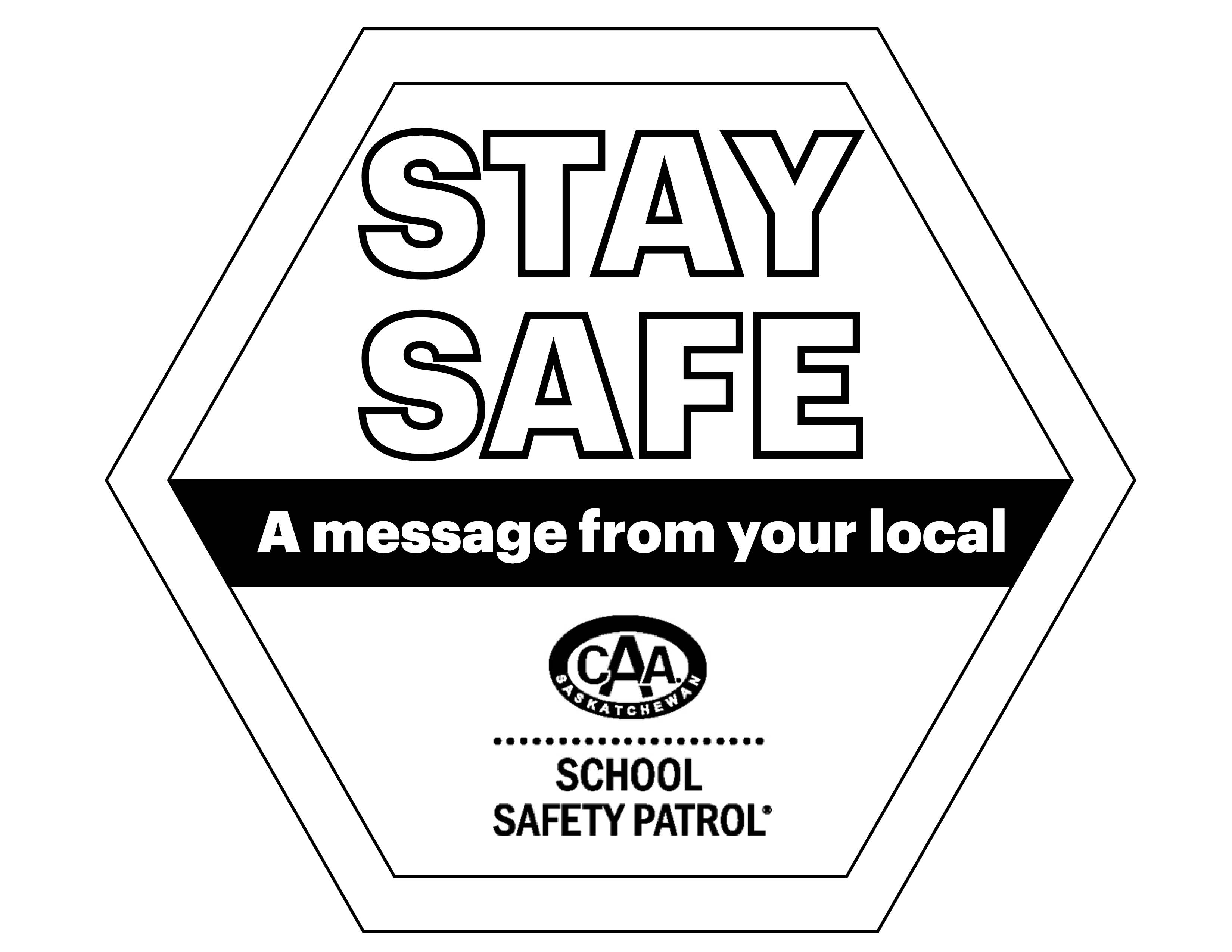 Stay Safe Window Colouring Sheet