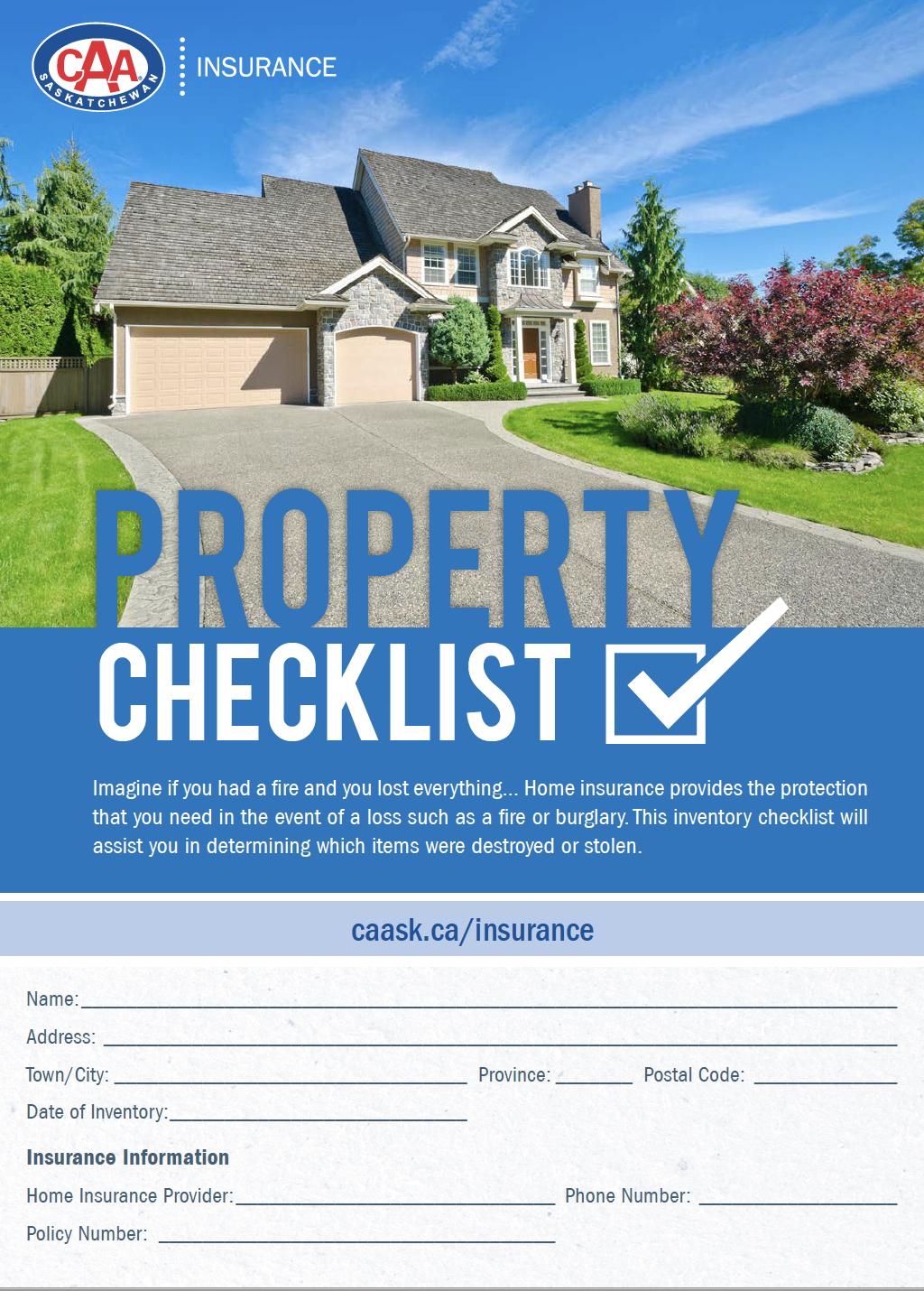 Property-checklist