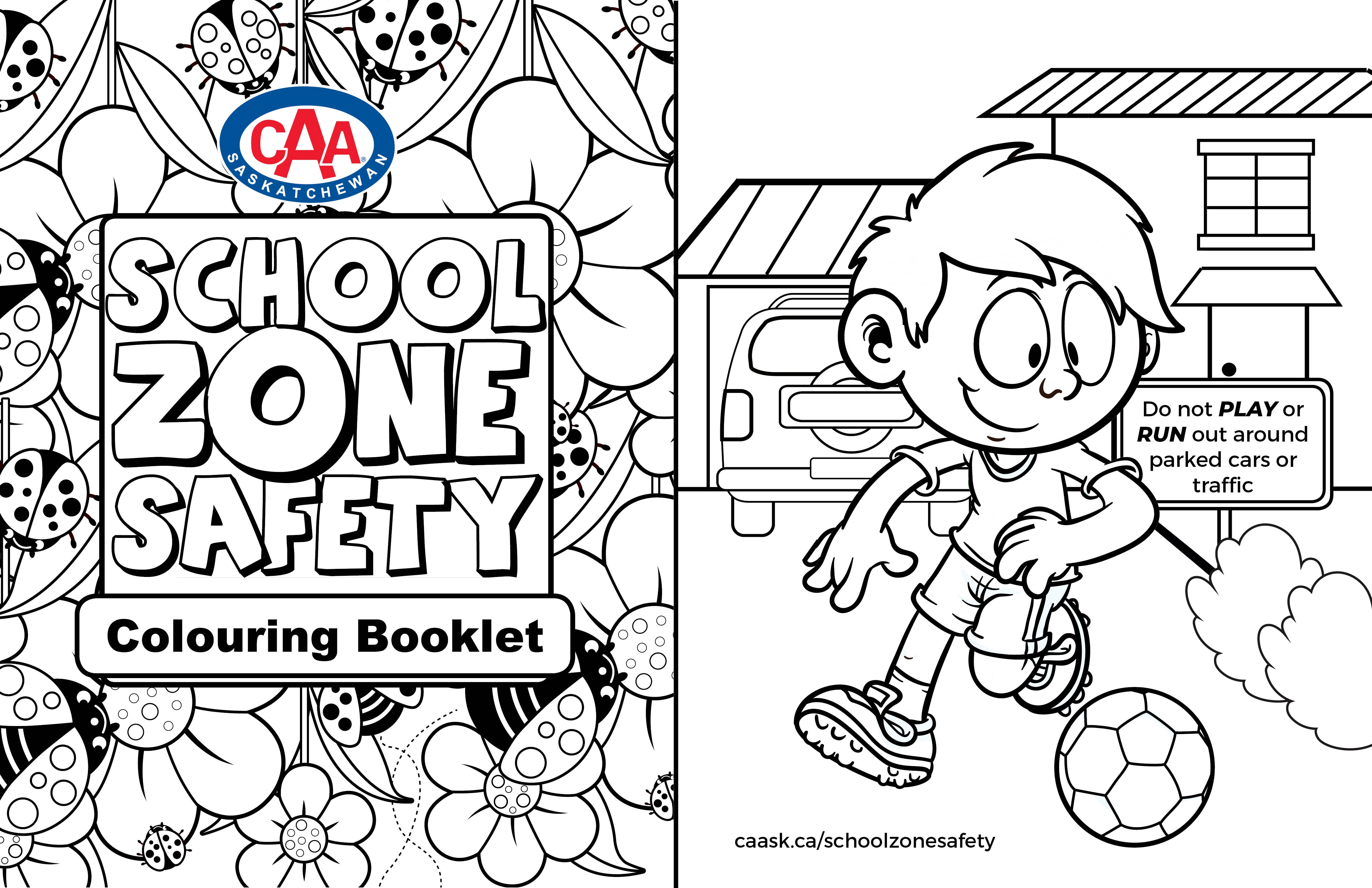 CAA School Zone Safety Colouring Booklet