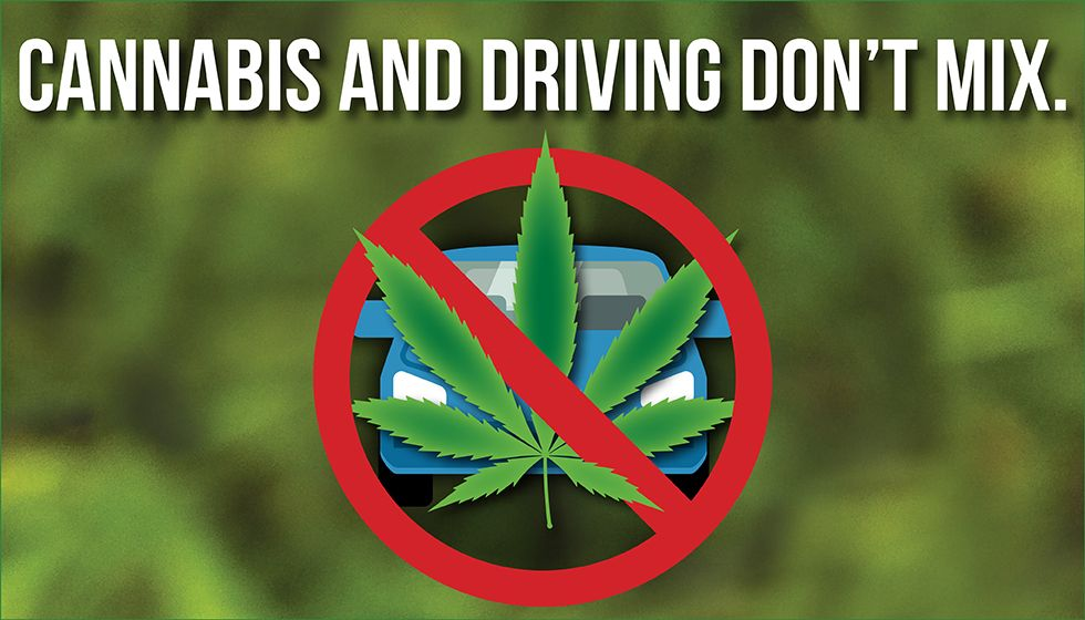 Cannabis and driving don't mix.