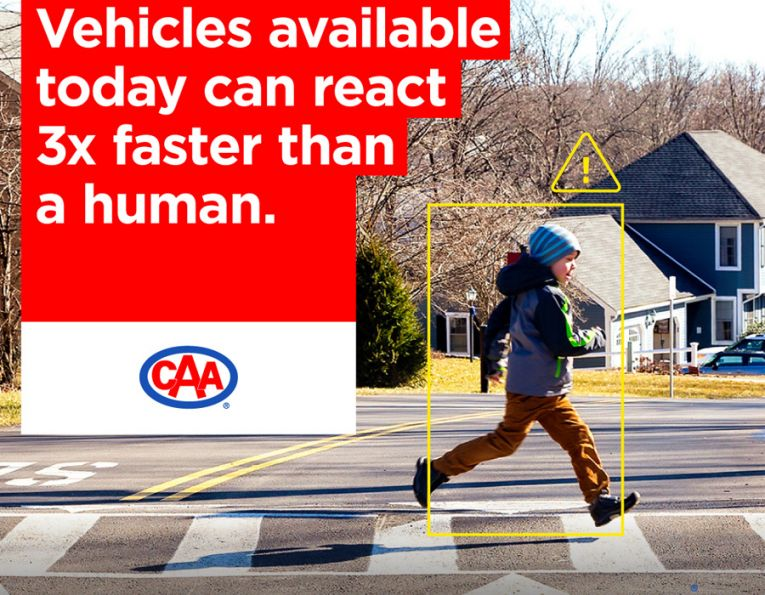 Vehicles available today can react 3x faster than a human